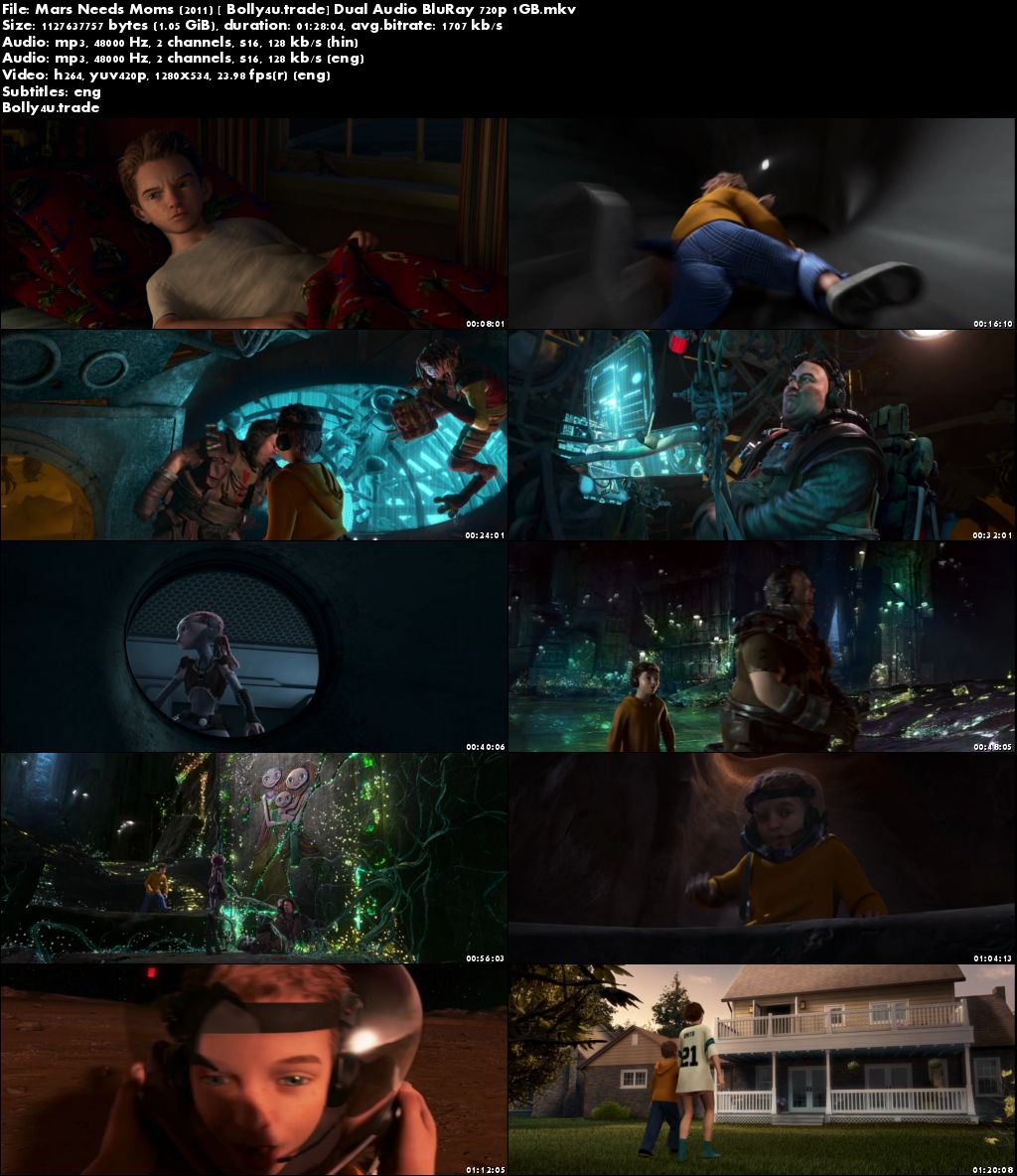 Mars Needs Moms 2011 BRRip 1GB Hindi Dual Audio 720p Download
