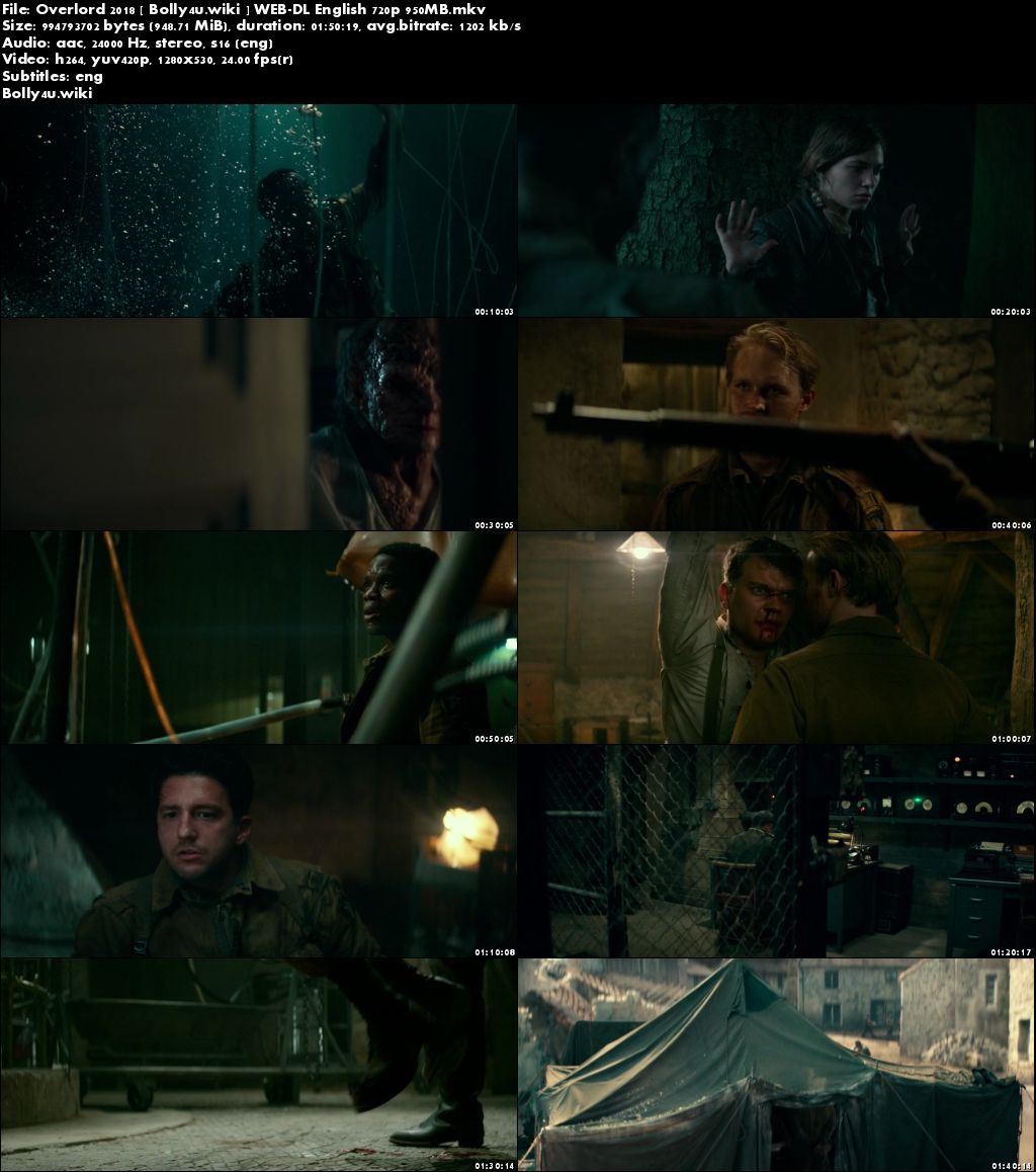 Overlord 2018 WEB-DL 300MB English 480p ESub Download