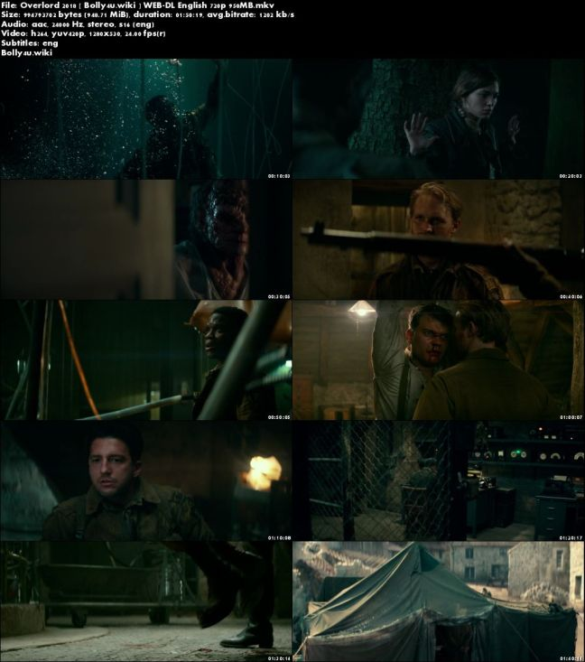 Overlord 2018 WEB-DL 950MB English 720p ESub Download