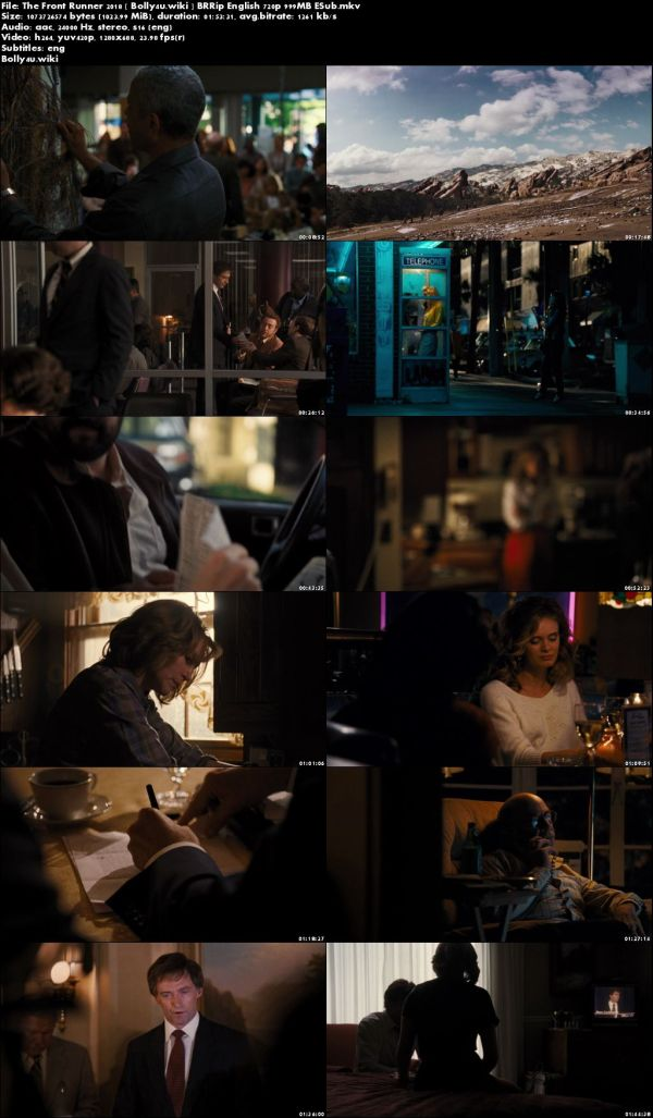 The Front Runner 2018 BRRip 999MB English 720p ESub Download