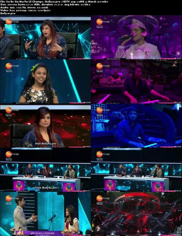 Sa Re Ga Ma Pa Lil Champs HDTV 480p 270MB 24 March 2019 Download