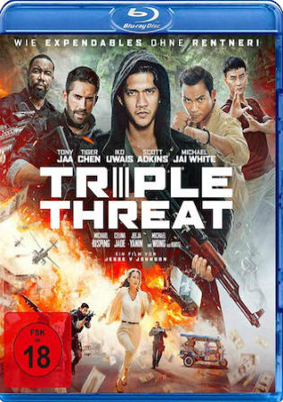 Triple Threat 2019 BRRip 300Mb English 480p ESub Watch Online Full Movie Download bolly4u