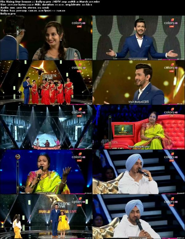 Rising Star Season 3 HDTV 480p 300MB 30 March 2019 Download