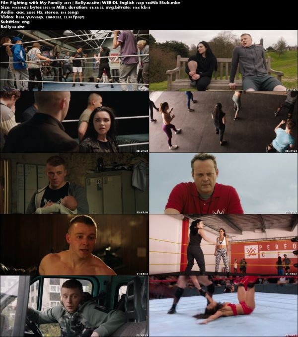 Fighting with My Family 2019 WEB-DL 900MB English 720p ESub Download
