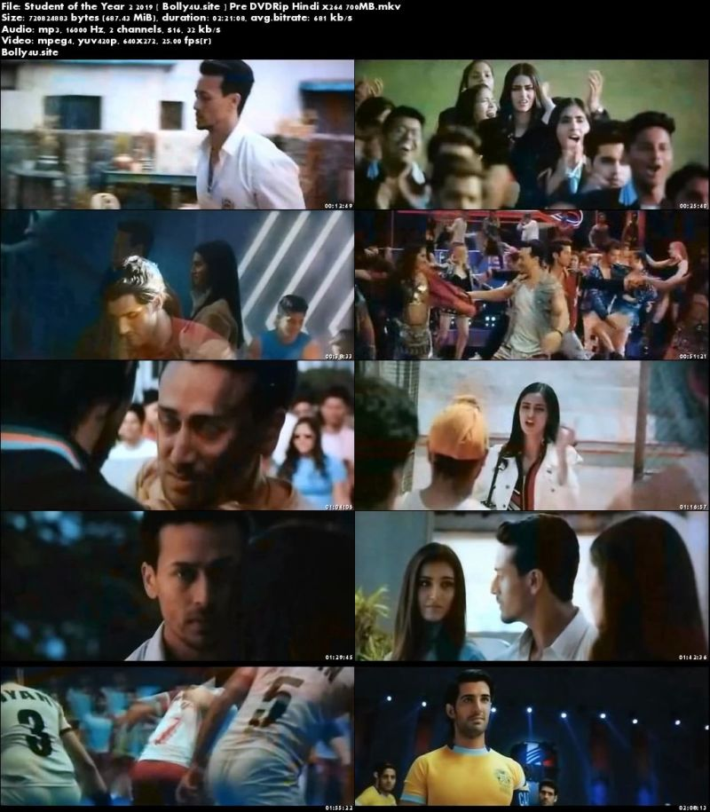 Student of the Year 2 2019 Pre DVDRip 400MB Hindi 480p Download