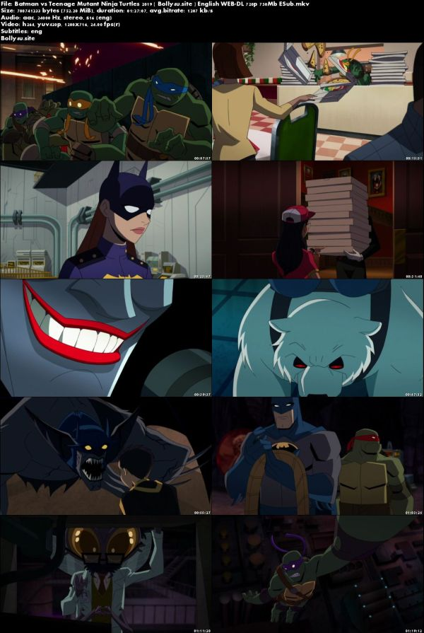 Batman vs Teenage Mutant Ninja Turtles 2019 WEB-DL 750MB English 720p ESub Download