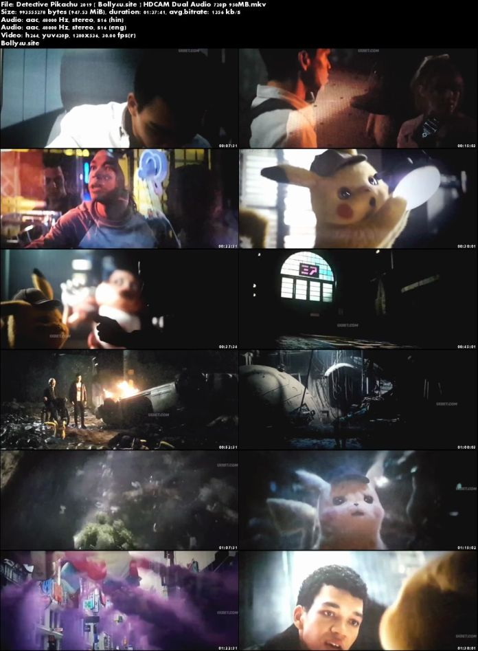Pokémon Detective Pikachu 2019 HDCAM 950MB Hindi Dual Audio 720p Download