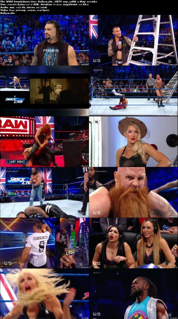 WWE Smackdown Live HDTV 480p 350MB 14 May 2019 Download