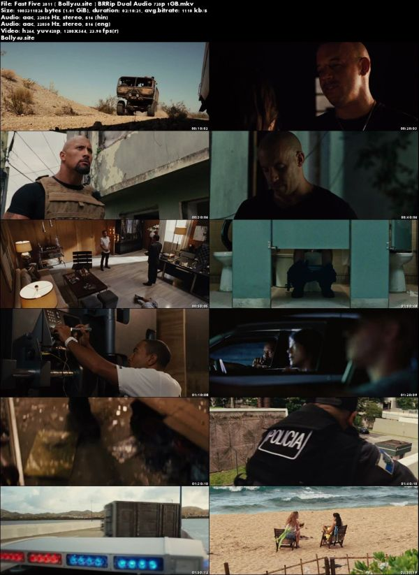 Fast Five 2011 BluRay 1GB Hindi Dual Audio 720p Download
