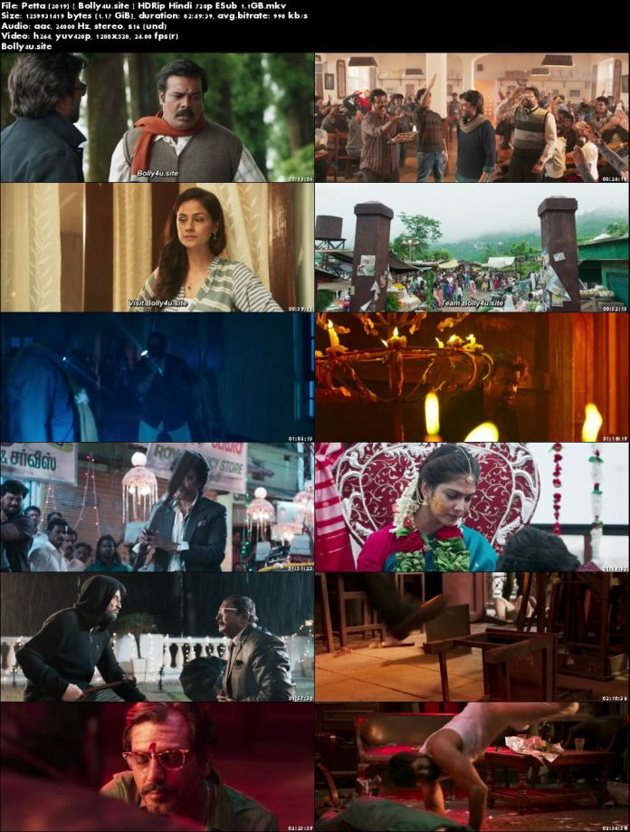 Petta 2019 HDRip 1.1GB ORG Hindi 720p ESub Download