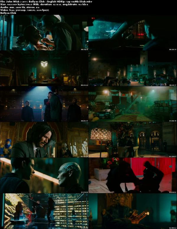 John Wick Chapter 3 Parabellum 2019 HDRip 900MB English 720p Download