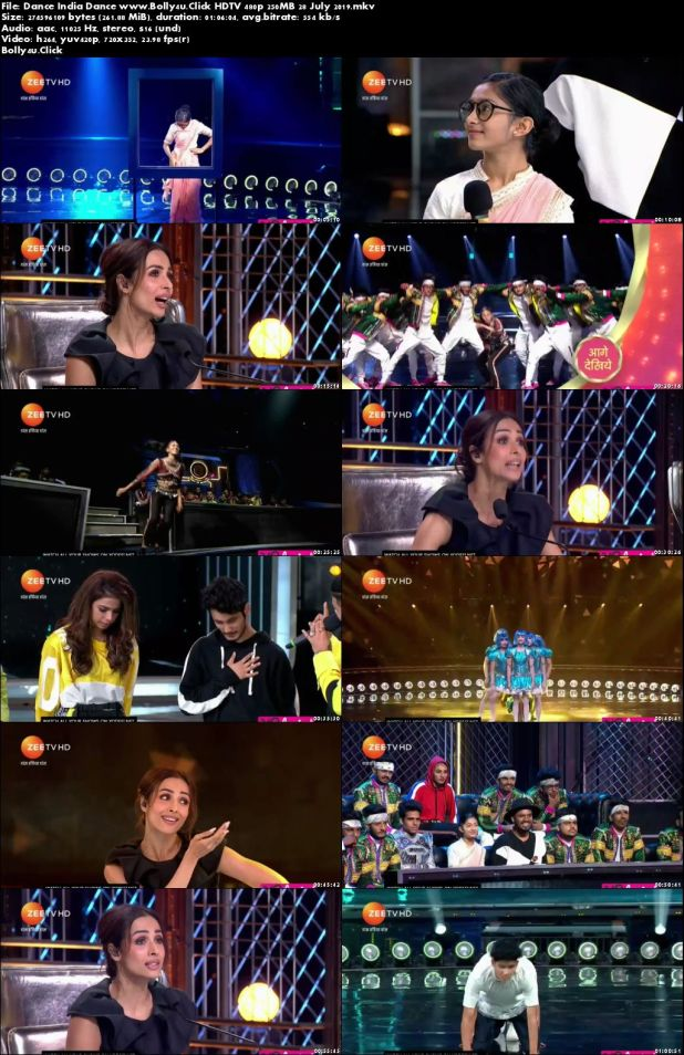Dance India Dance HDTV 480p 250MB 28 July 2019 Download