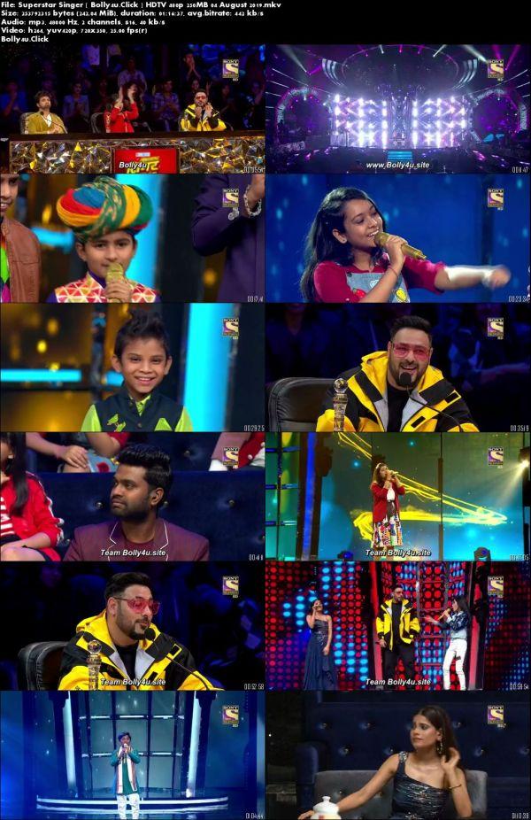 Superstar Singer HDTV 480p 250MB 04 August 2019 Download
