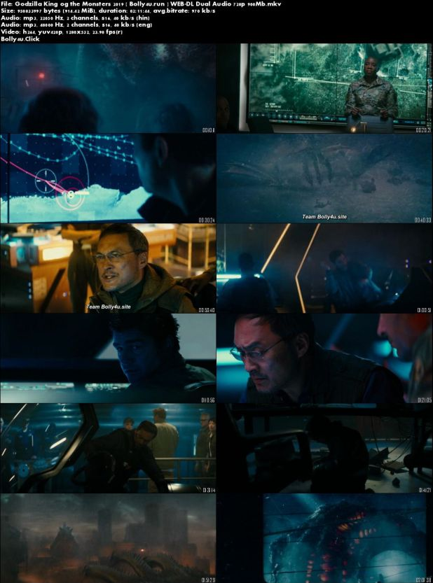 Godzilla King of The Monsters 2019 WEB-DL 900Mb Hindi Dual Audio 720p Download