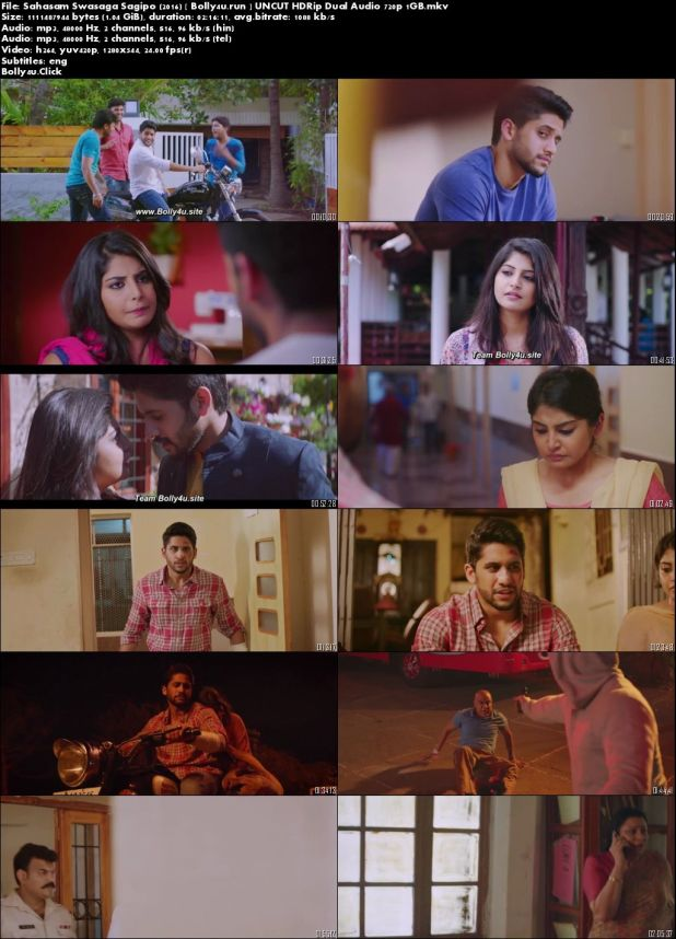 Sahasam Swasaga Sagipo 2016 HDRip 450MB UNCUT Hindi Dual Audio 480p Download
