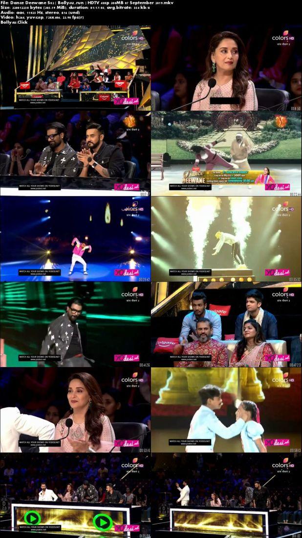 Dance Deewane S02 HDTV 480p 300MB 07 September 2019 Download
