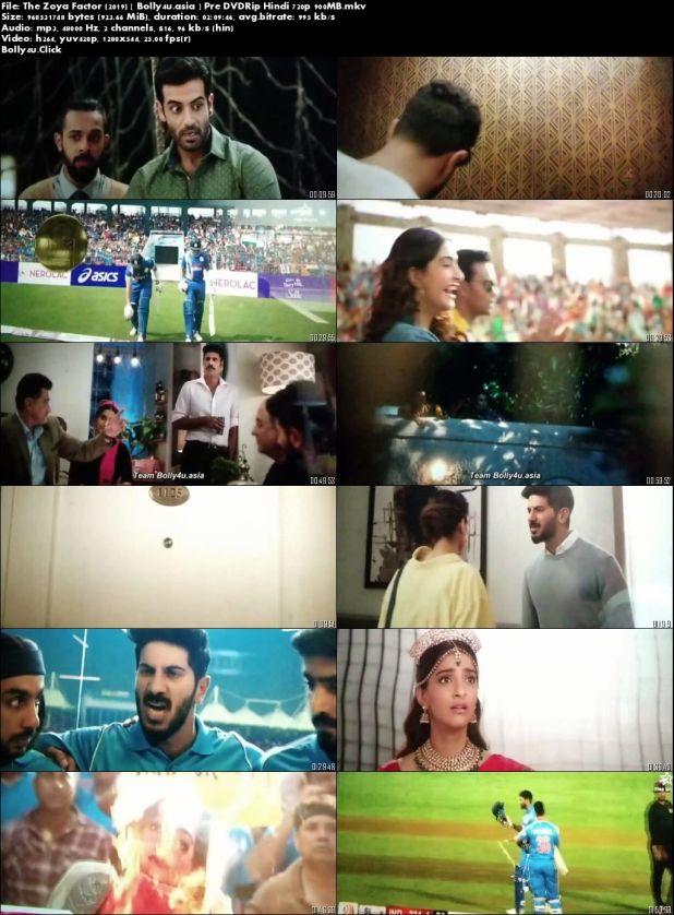 The Zoya Factor 2019 Pre DVDRip 300Mb Full Hindi Movie Download 480p