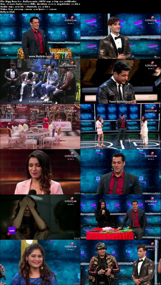 Bigg Boss S13 HDTV 500Mb 480p 29 Sep 2019 Download