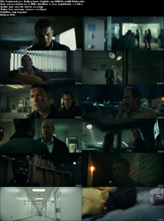 Fractured 2019 WEB-DL 800Mb English 720p ESub Download