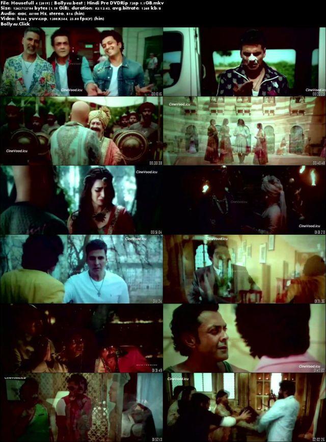 Housefull 4 2019 Pre DVDRip 1.1Gb Full Hindi Movie Download 720p
