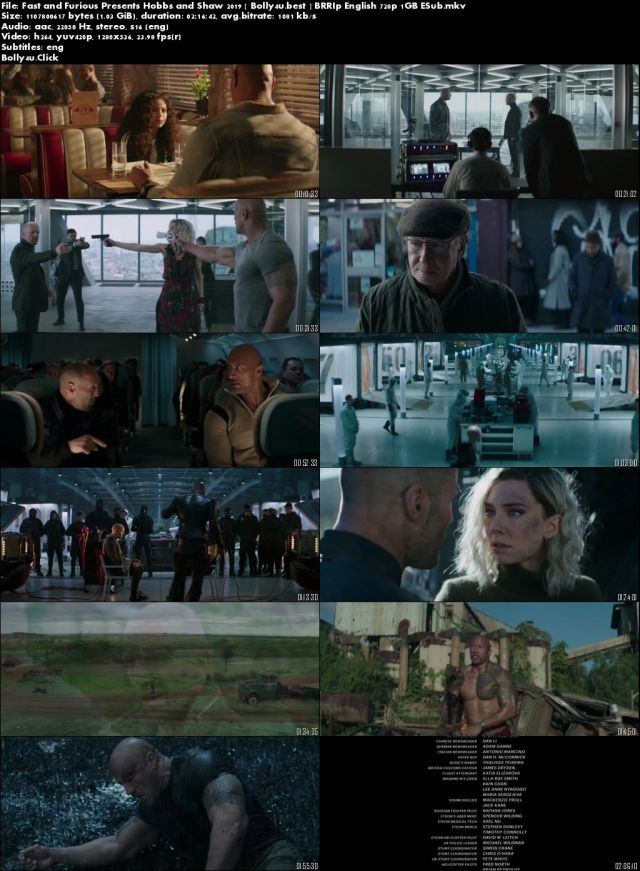 Fast and Furious Presents Hobbs and Shaw 2019 BRRip 450MB English 480p ESub Download