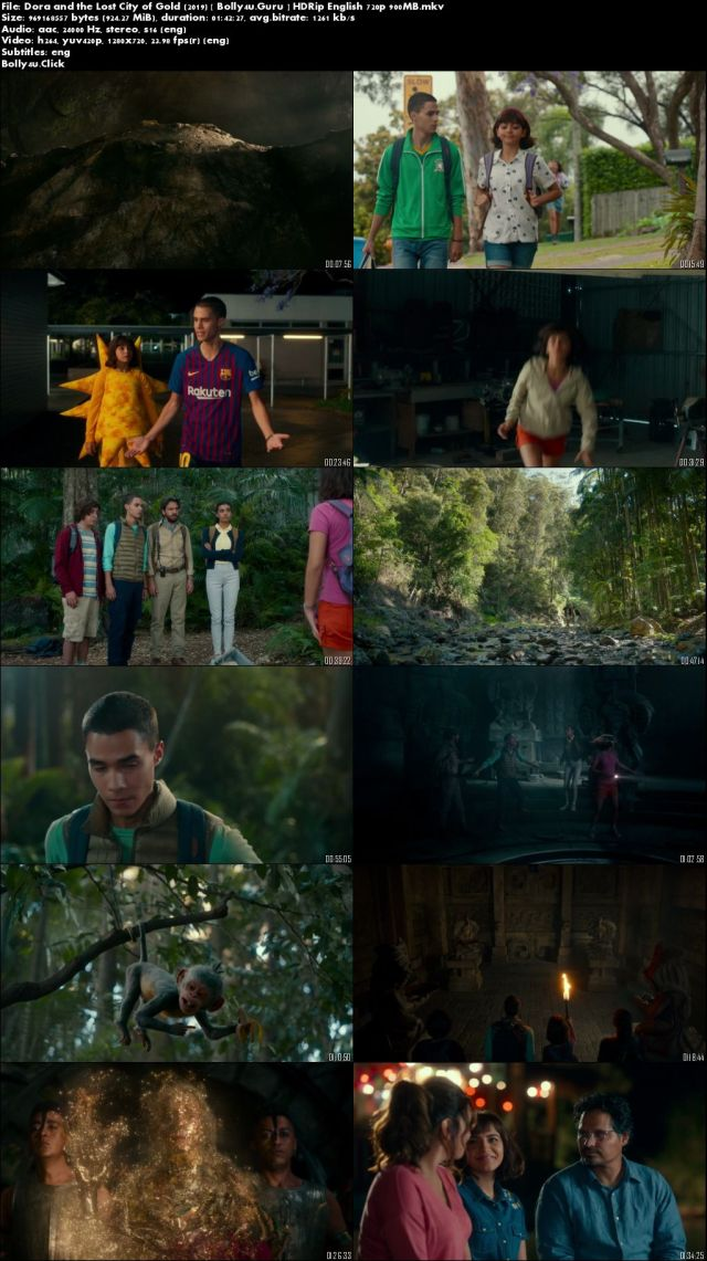 Dora and the Lost City of Gold 2019 HDRip 900MB English 720p ESub Download