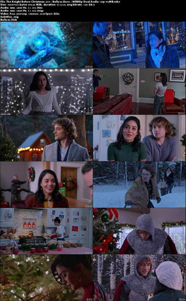 The Knight Before Christmas 2019 WEBRip 950Mb Hindi Dual Audio 720p Download