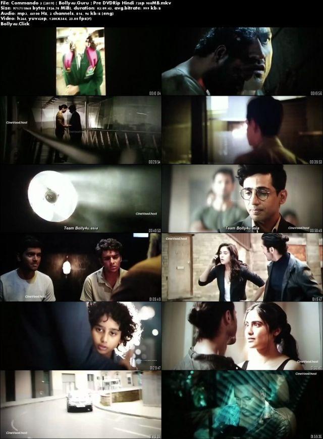 Commando 3 2019 Pre DVDRip 300MB Full Hindi Movie Download 480p
