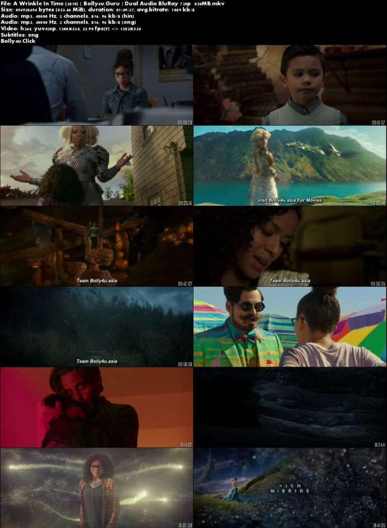 A Wrinkle In Time 2018 Bluray 300mb Hindi Dual Audio 480p Bolly4u