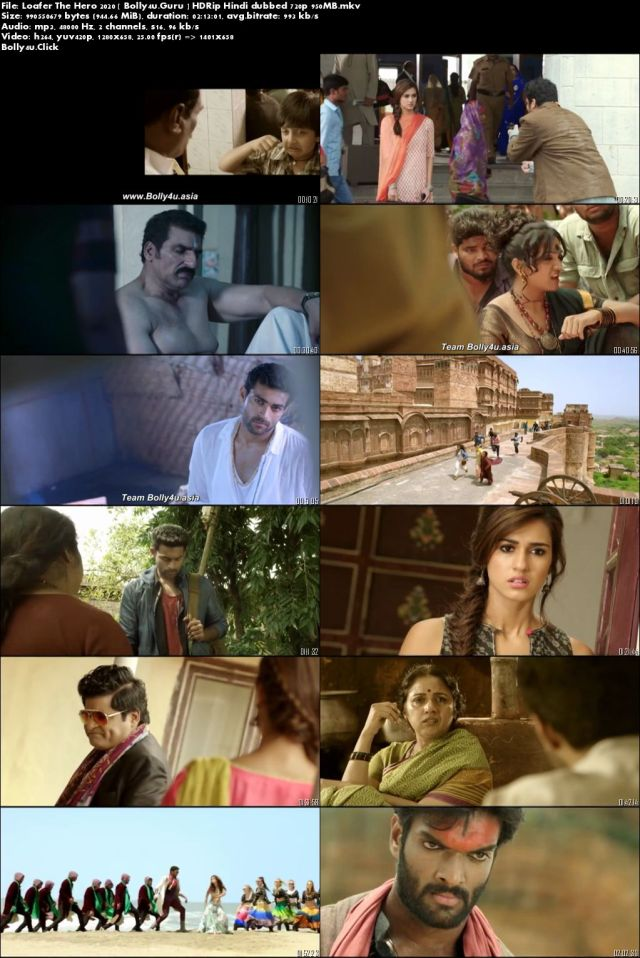 Loafer The Hero 2020 HDRip 950Mb Hindi Dubbed 720p Download