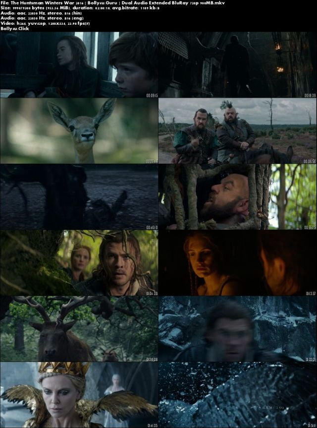 The Huntsman Winters War 2016 BRRip 900Mb Hindi Dual Audio Extended 720p Download