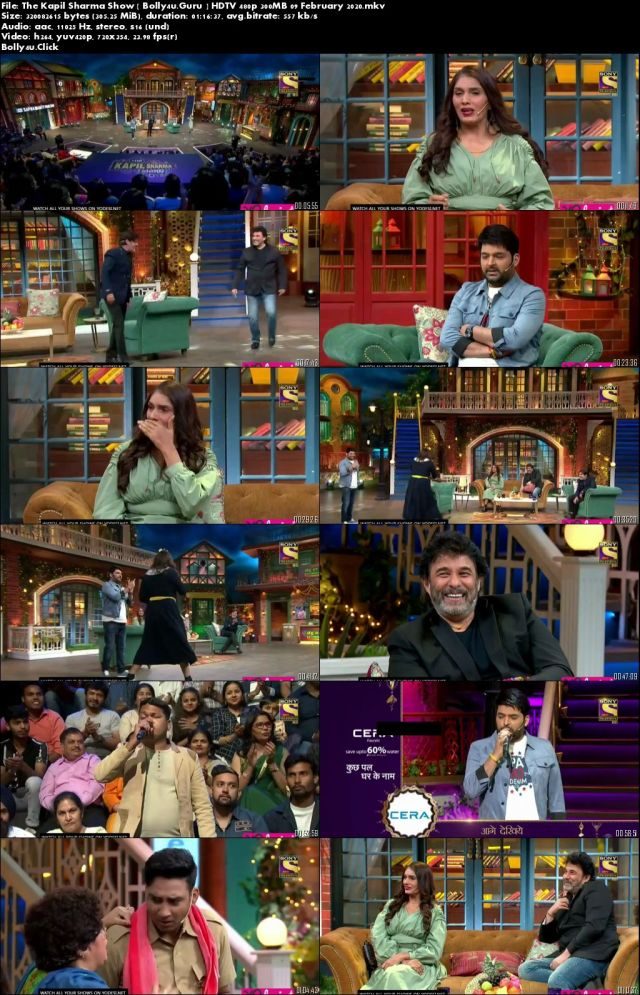 The Kapil Sharma Show HDTV 480p 300MB 09 February 2020 Download
