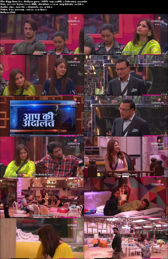 Bigg Boss S13 HDTV 480p 250MB 12 February 2020 Download
