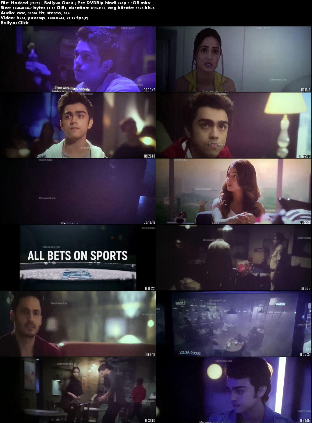Hacked 2020 Pre DVDRip 300MB Full Hindi Movie Download 480p