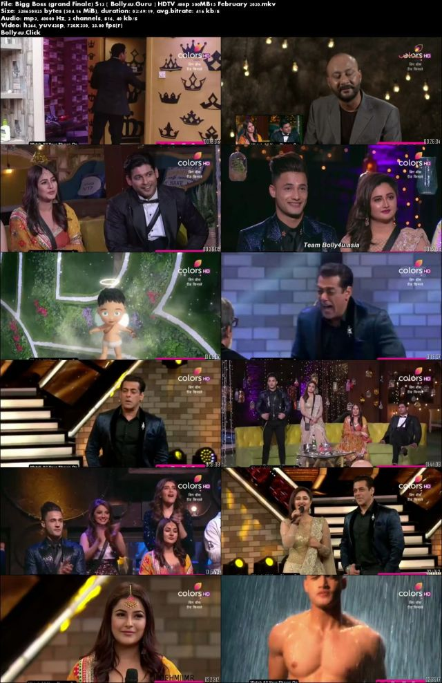 Bigg Boss Grand Finale S13 HDTV 480p 500MB15 February 2020 Download