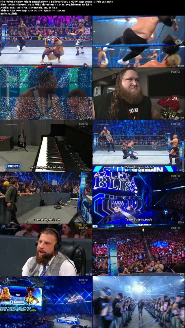 WWE Friday Night Smackdown HDTV 480p 270Mb 21 Feb 2020 Download