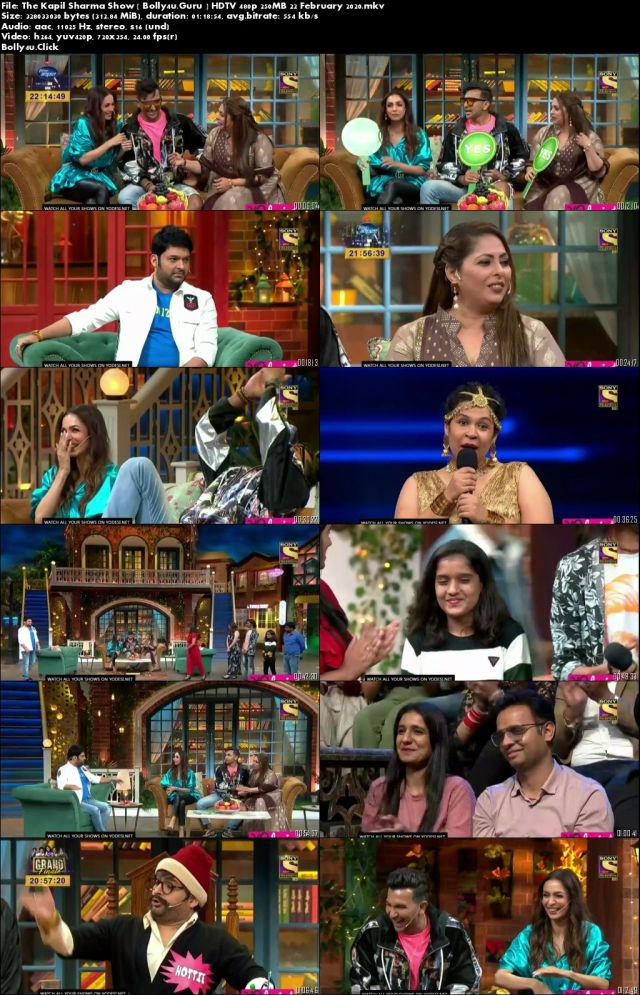 The Kapil Sharma Show HDTV 480p 250MB 22 February 2020 Download