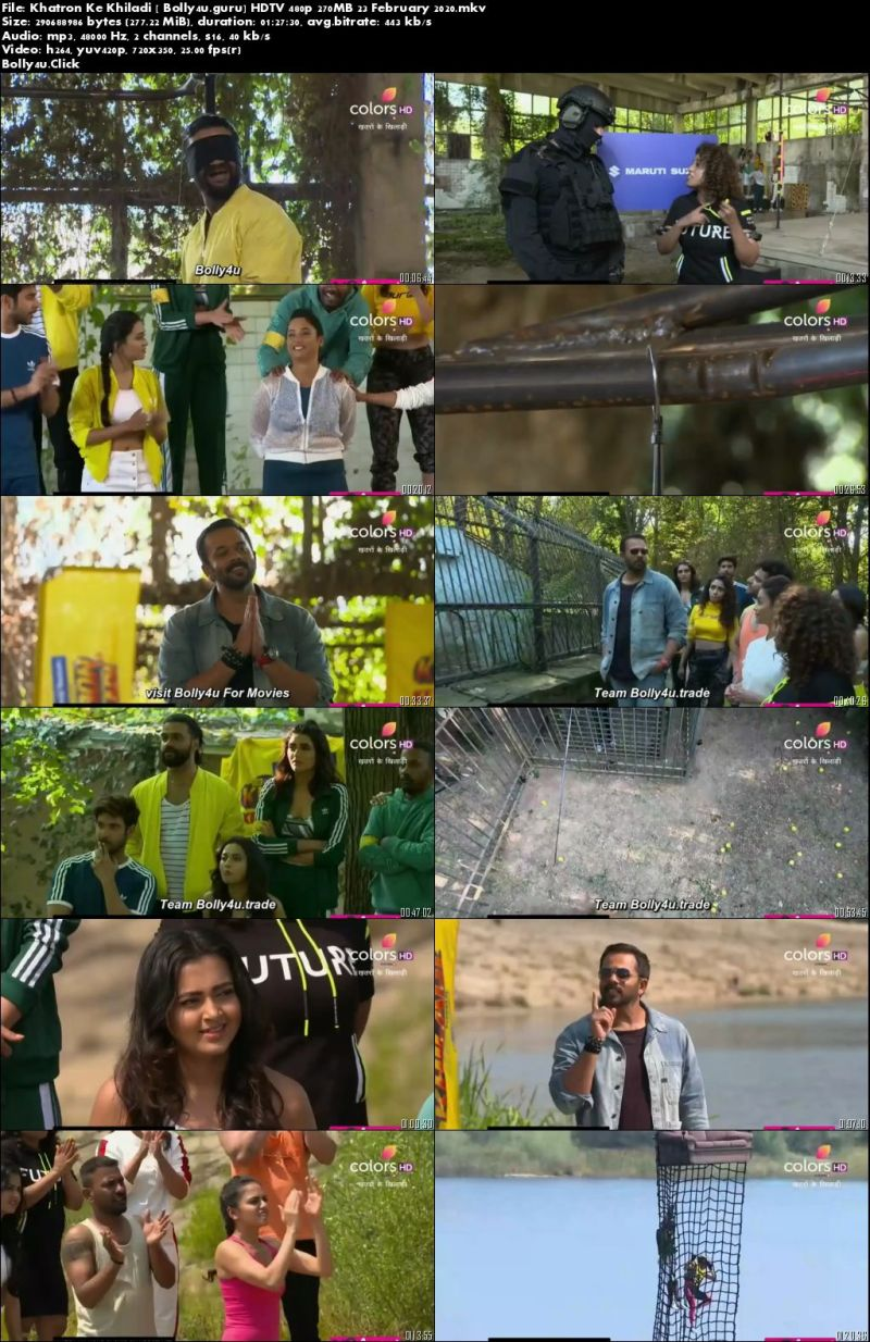 Khatron Ke Khiladi HDTV 480p 270MB 23 February 2020 Download