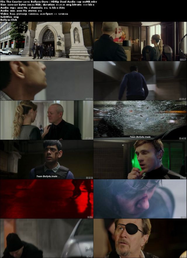 The Courier 2019 HDRip 800MB Hindi Dual Audio 720p Download