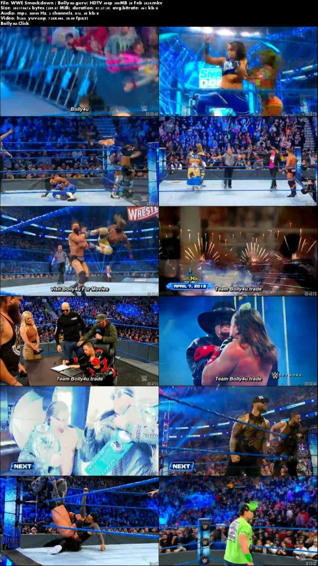 WWE Friday Night Smackdown HDTV 480p 300MB 28 Feb 2020 Download