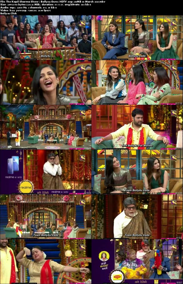 The Kapil Sharma Show HDTV 480p 200MB 08 March 2020 Download