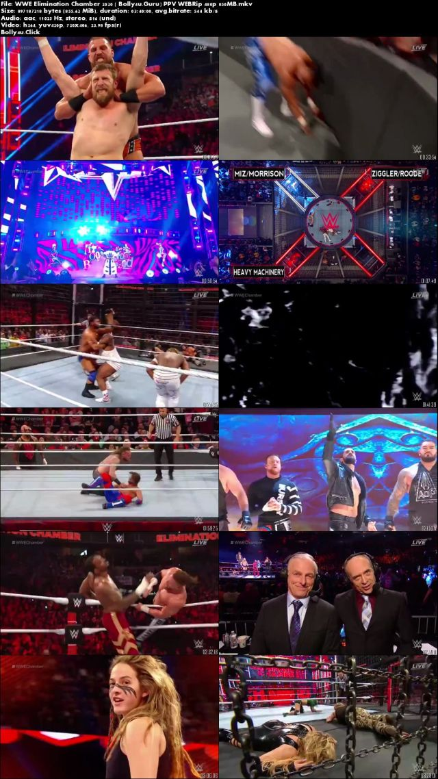 WWE Elimination Chamber 2020 PPV WEBRip 850MB 480p Download