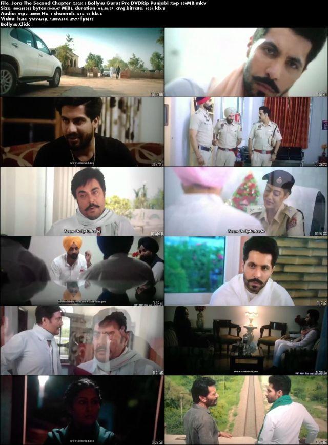 Jora The Second Chapter 2020 Pre DVDRip 400Mb Punjabi 480p Download