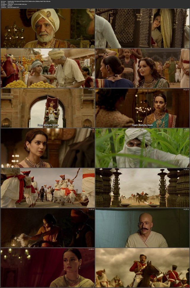 Manikarnika The Queen Of Jhansi 2019 BRRip 400Mb Hindi 480p ESub Download
