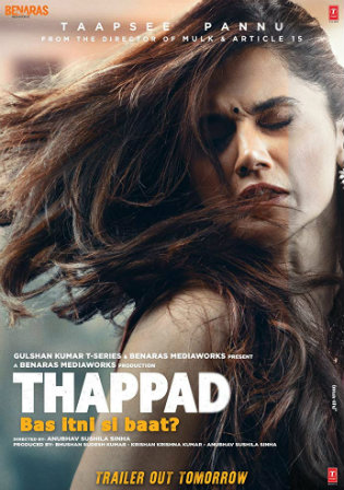 Thappad 2020 WEBRip 400MB Full Hindi Movie Download 480p Watch Online Full Movie Download bolly4u