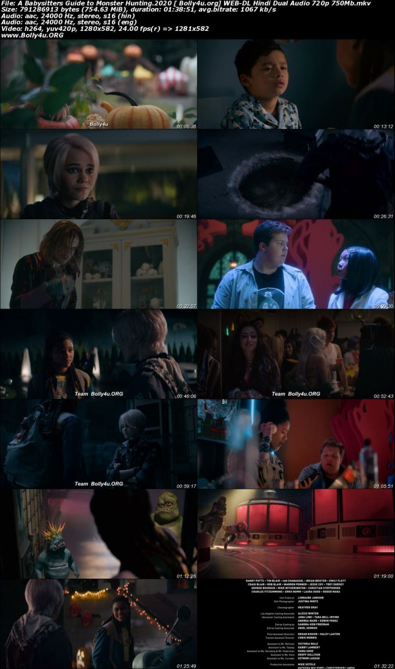 A Babysitters Guide to Monster Hunting 2020 WEB-DL 300Mb Hindi Dual Audio 480p Download