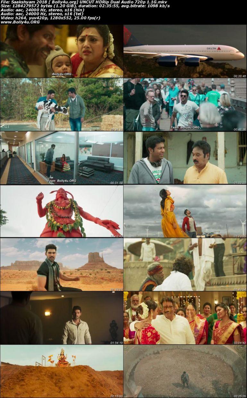 Saakshyam 2018 HDRip 500MB UNCUT Hindi Dual Audio 480p Download