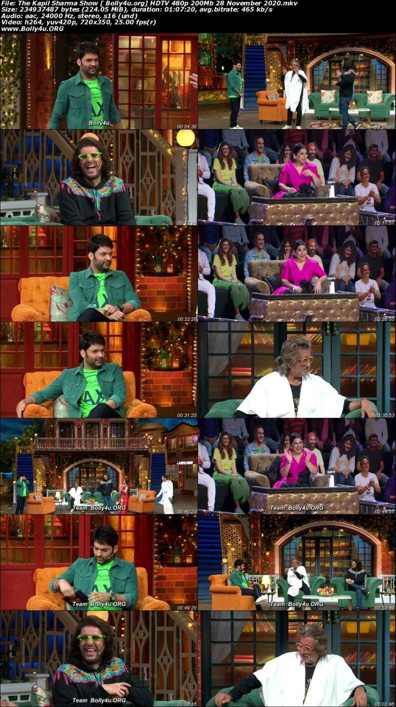 The Kapil Sharma Show HDTV 480p 200Mb 28 November 2020 Download