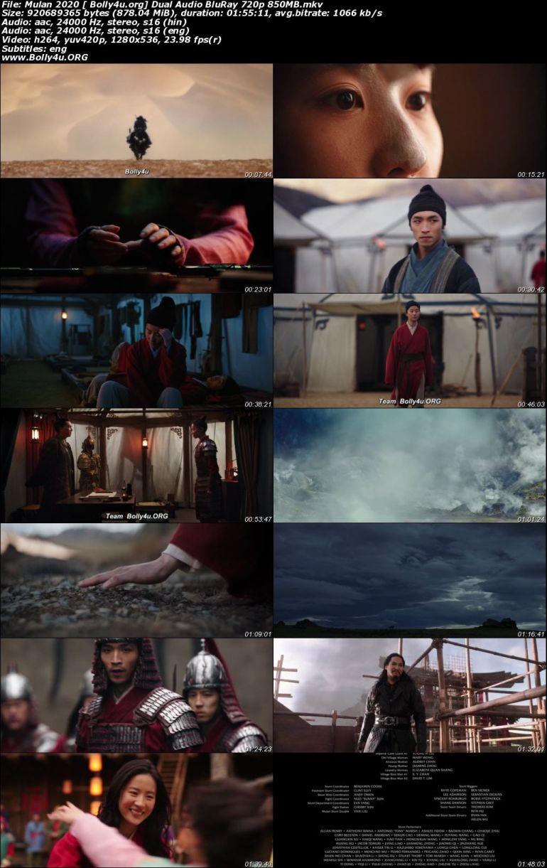 Mulan 2020 BluRay 400Mb Hindi Dual Audio ORG 480p Download