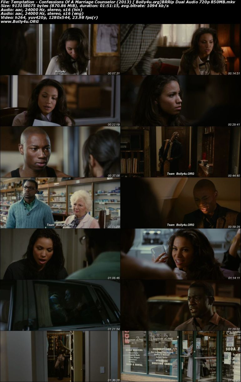 Temptation Confessions Of A Marriage Counselor 2013 BRRip 300Mb Hindi Dual Audio 480p Download